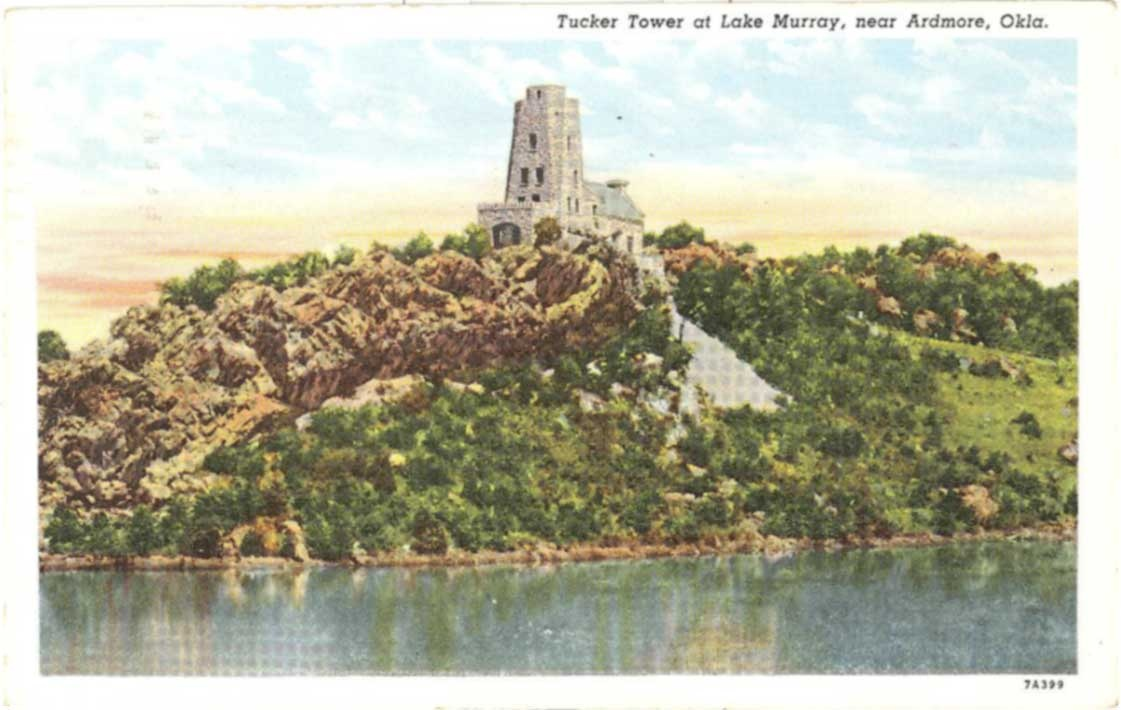Ardmore Postcard Tucker Tower c1944